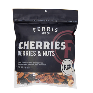 ferris nuts, 16-ounce bag, raw cherries berries and nuts