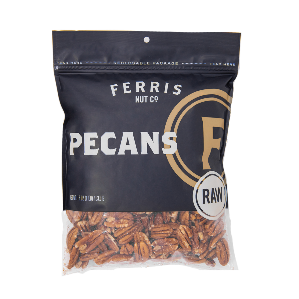 ferris nuts, 16-ounce bag, raw pecans