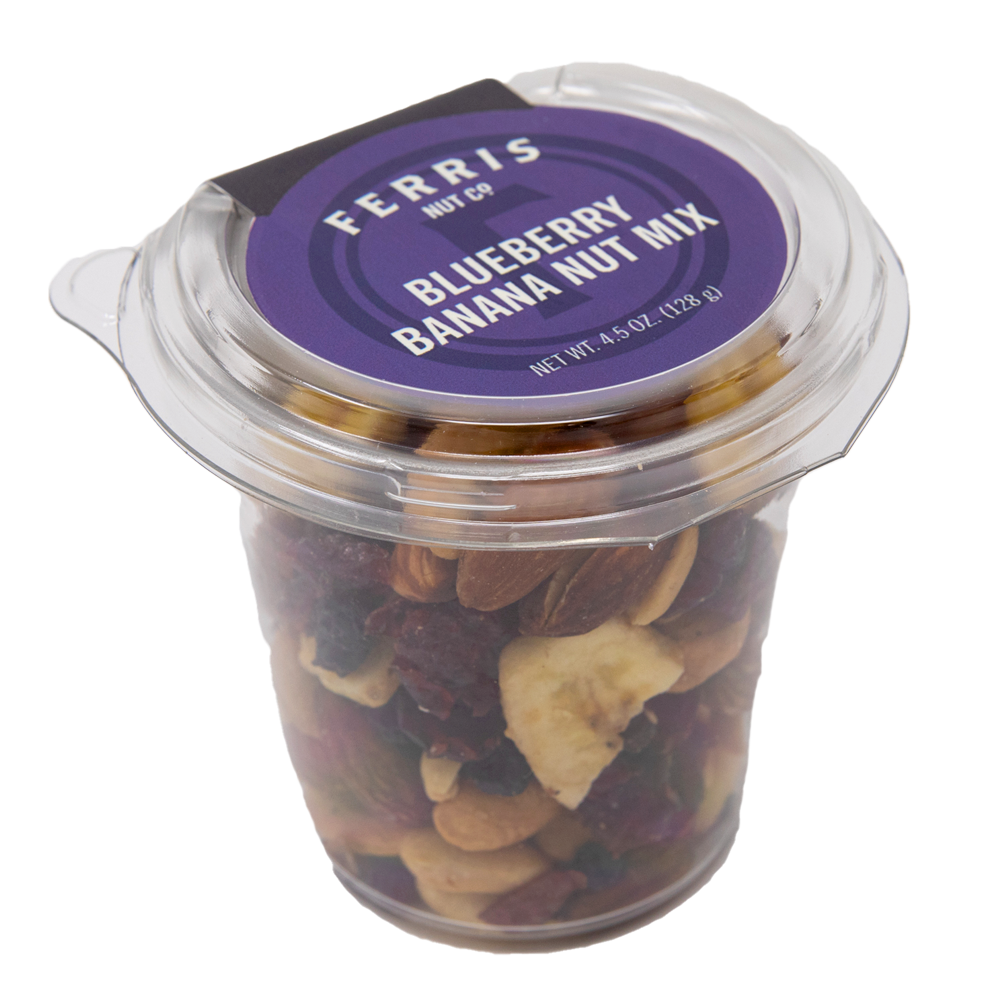 Blueberry Banana Nut Mix (Roasted Salted) 4.5 oz. - Ferris Coffee & Nut Co.