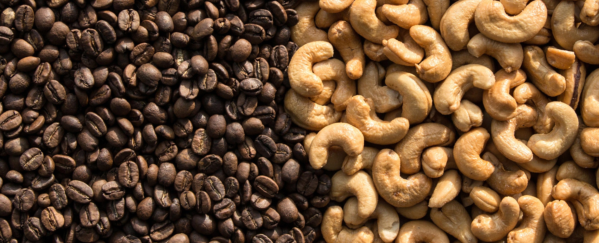 coffee beans and cashews