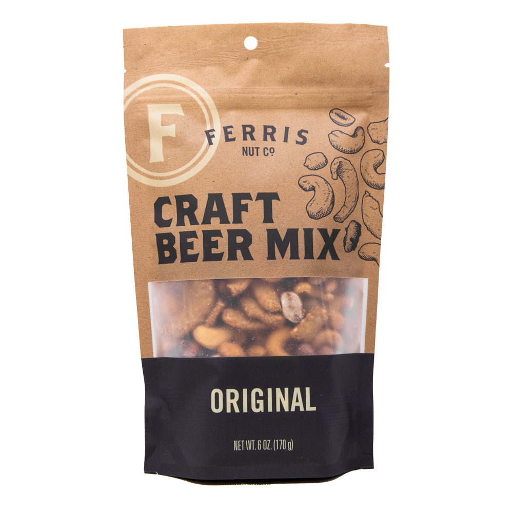 ferris nuts, craft beer mix pouch, 6-ounce