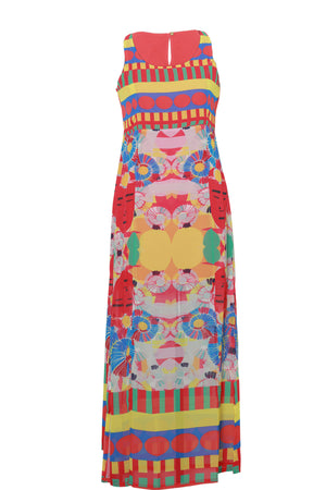 Wear We Met Printed Long Dress- 91D143 - Apsara Silks