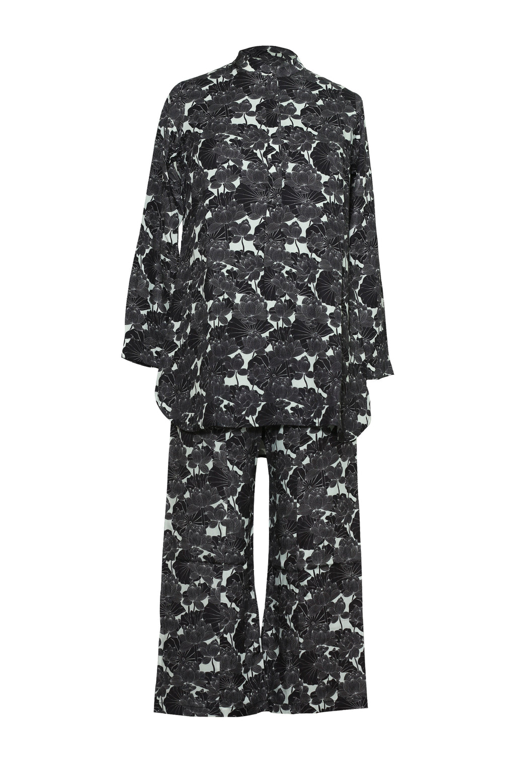 Wear We Met Floral Shirt N Pajama Set-91A742 - Apsara Silks