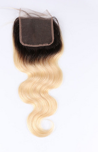 Eurasian 613/1B roots Body Wave Lace Closure