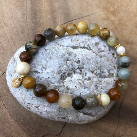 The Pearl Project Bracelet Amazonite Stone