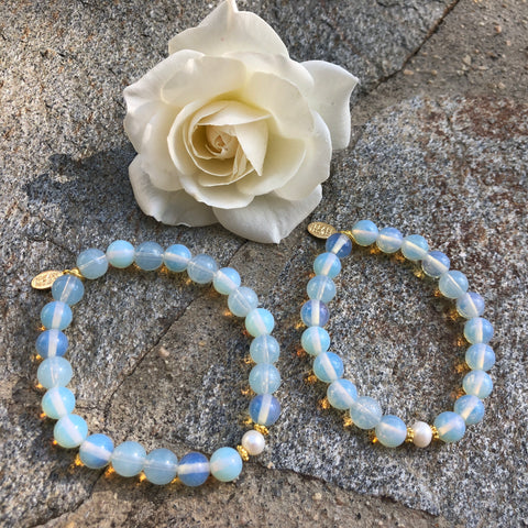 Mommy and Me The Pearl Project Bracelet Set Opalite Quartz