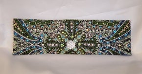 Mint Green Indian with Turquoise, Light Green and Diamond Clear Swarovski Crystals (Sku1074)