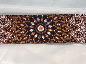 Mustard Indian with Orange and Clear Crystals (Sku1306)