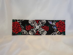 Roses and Skulls with Red and Diamond Clear Swarovski Crystals (Sku1585)
