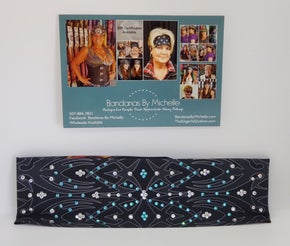 Tribal bandana with Turquoise and Clear Crystals (Sku1679)
