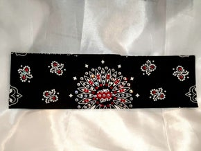 Black Paisley With Red and Diamond Clear Swarovski Crystals (Sku1924)