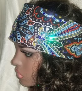 LeeAnnette Blue Indian with Dark Blue, Turquoise and Diamond Clear Swarovski Crystals (Sku4015)