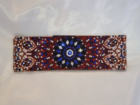 LeeAnnette Rust Indian with Blue and Diamond Clear Swarovski Crystals (Sku4034)