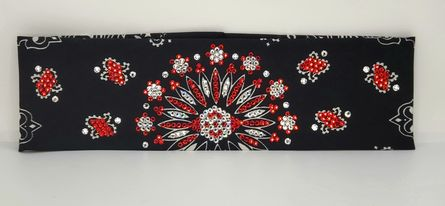 LeeAnnette Black Paisley with Red and Diamond Clear Swarovski Crystals (Sku4078)