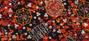 LeeAnnette Fire Dept. with Black, Fire Opal and Diamond Clear Swarovski Crystals (Sku4322)
