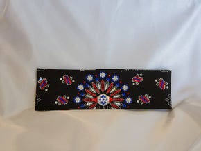 LeeAnnette Black Paisley with Red, Blue and Diamond Clear Swarovski Crystals (Sku4358)
