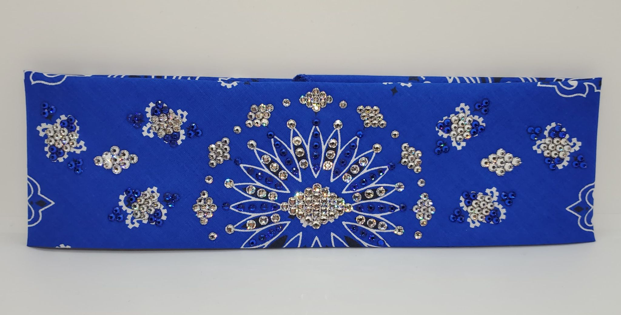 LeeAnnette Blue Paisley with Blue and Diamond Clear Swarovski Crystals (Sku4365)