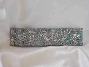 LeeAnnette Gray Scroll with Turquoise and Diamond Clear Swarovski Crystals (Sku4421)