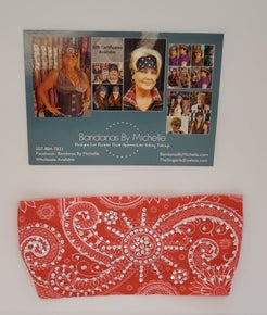 Stretchy Headband Pinkish/Coral with Diamond Clear Crystals (Sku5115)