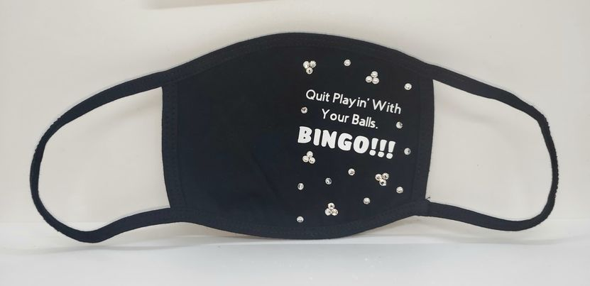 Face Mask Bingo Quit Playing with your Balls (Sku5949)