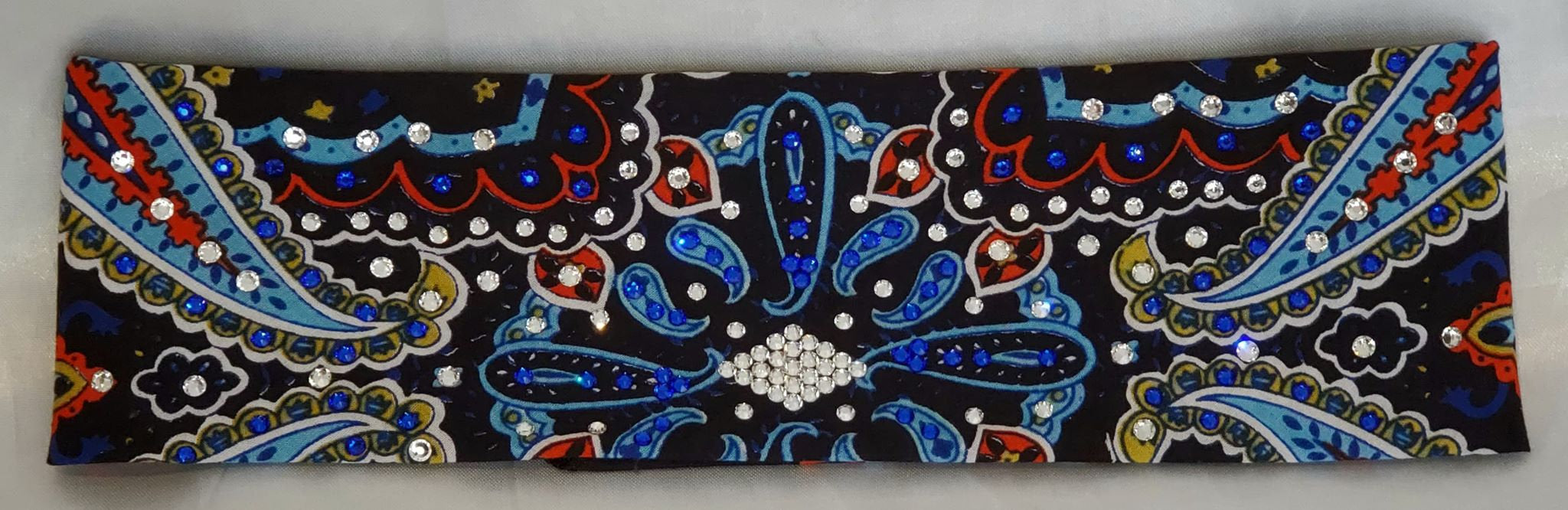 Blue Indian with Blue and Clear Swarovski Crystals (Sku1403)