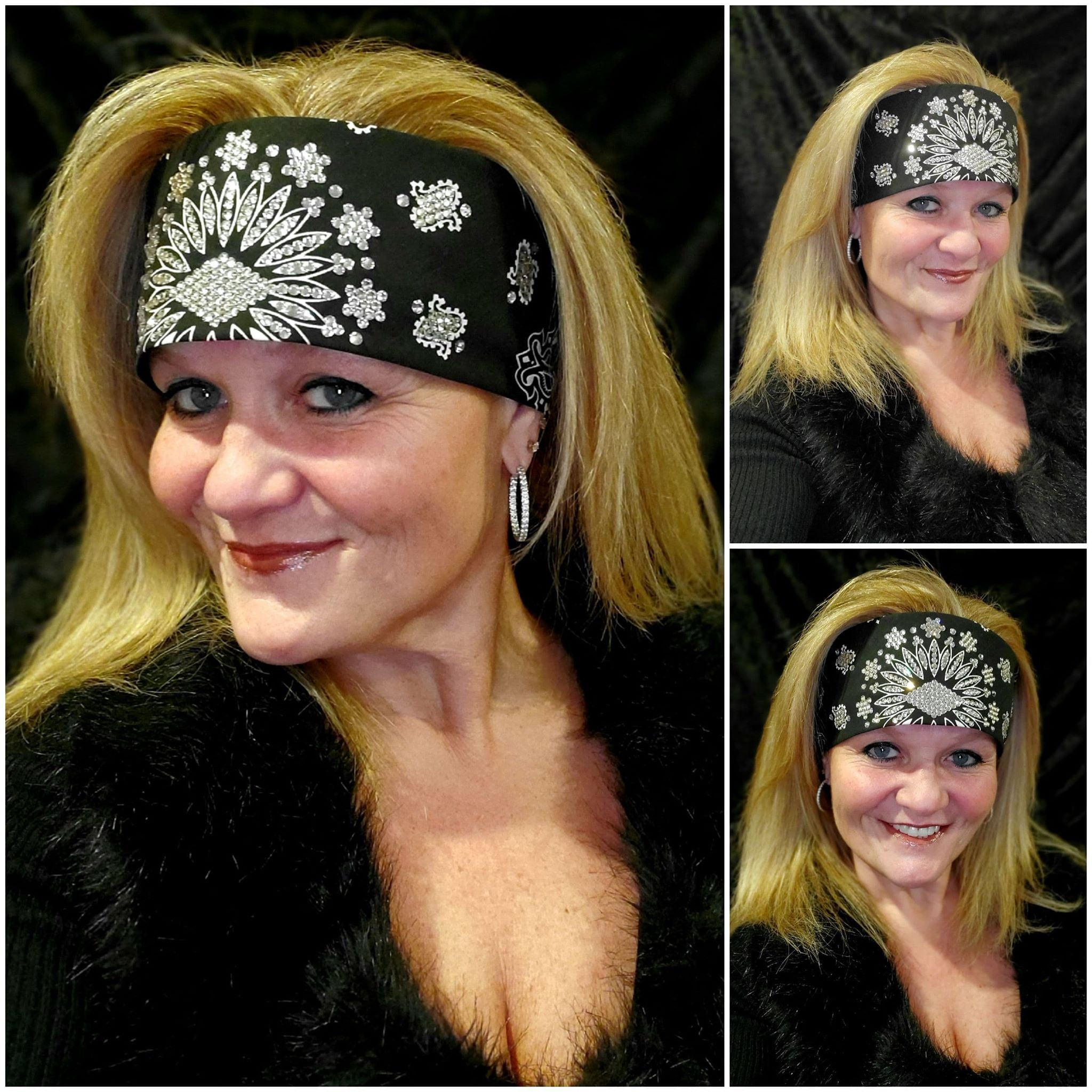 LeeAnnette Black Paisley with Diamond Clear Swarovski Crystals (Sku4080)