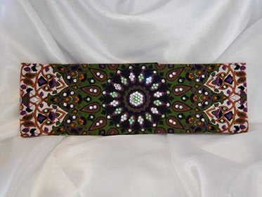 Green Indian with Light Green and Diamond Clear Swarovski Crystals (Sku1299)