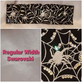 Spider and Web with Diamond Clear Swarovski Crystals (Sku9804)