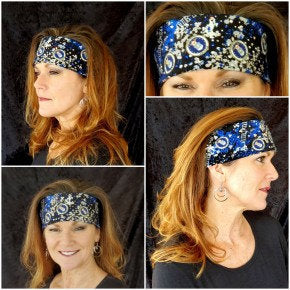 Air force Bandana with Blue and clear Swarovski Crystals (Sku1813)