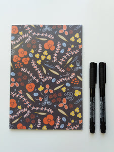 Floral Notebook - lined - Edith May Designs