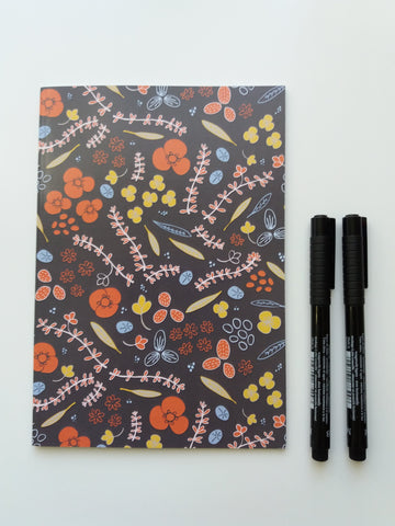 Floral Notebook - lined
