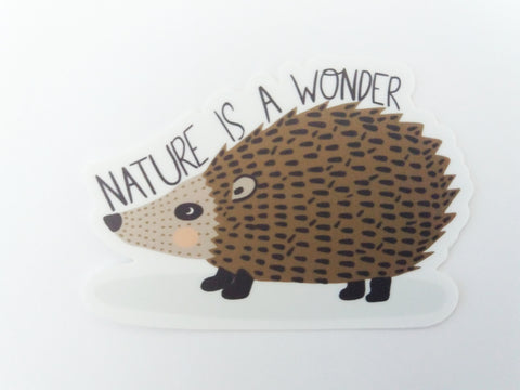 Nature is a Wonder Hedgehog Sticker - Edith May Designs