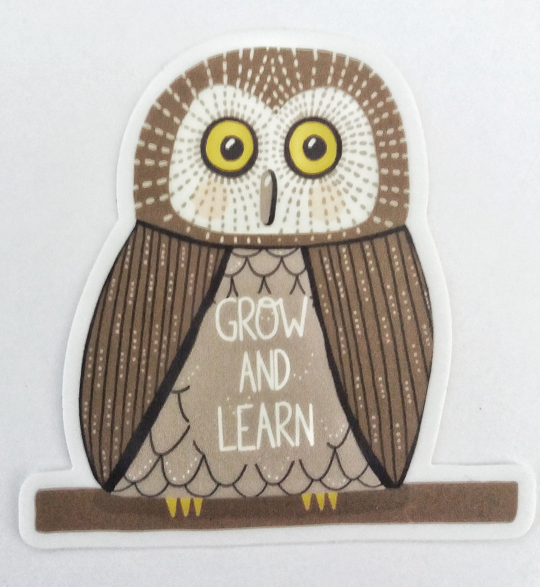 Grow and Learn Owl Sticker - Edith May Designs