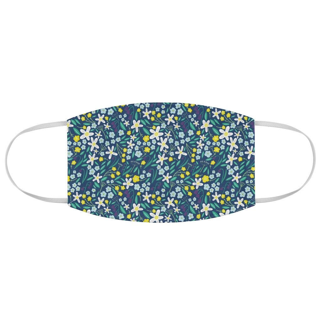 Wild Flower Print Face Mask - Edith May Designs