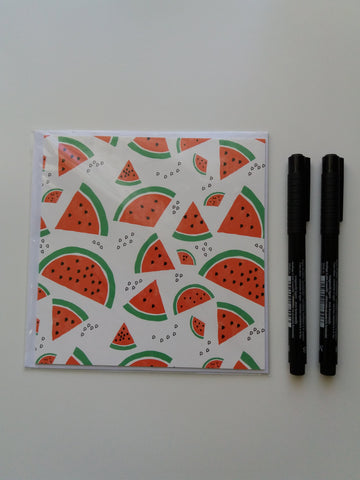 Watermelon Greeting Card - Edith May Designs