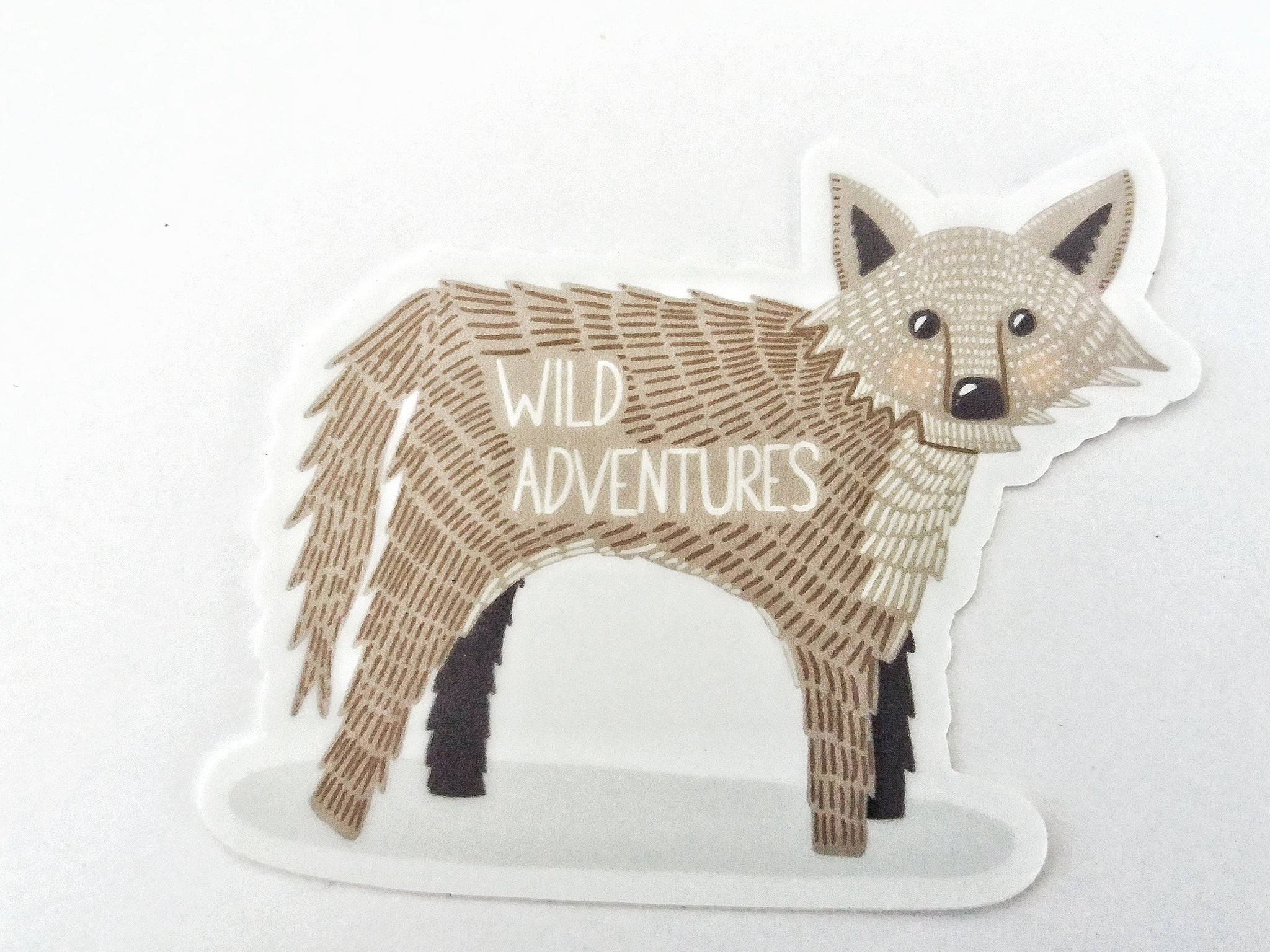 Wild Adventures Wolf Sticker - Edith May Designs