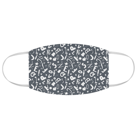 Simply letters (grey) Face Mask - Edith May Designs