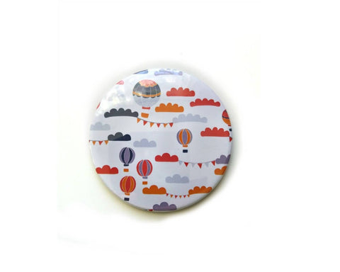 Hot Air Balloon Round Mirror College Student Gift  - Balloons Pocket Mirror Gift For Best Friend - Edith May Designs