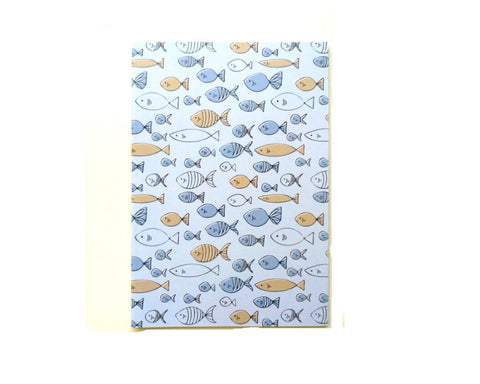 Blue Fish Sketchbook College Student Gift/A5 Cute Sketchbook Thank You Gift - Edith May Designs