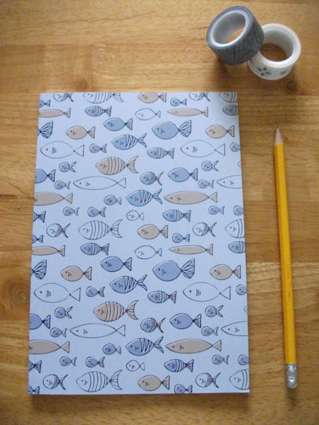 Blue Fish Notebook - Edith May Designs