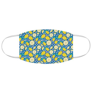 Fresh Lemon Print Face Mask - Edith May Designs
