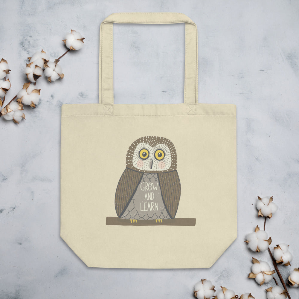 Grow and Learn Owl Eco Tote Bag - Edith May Designs