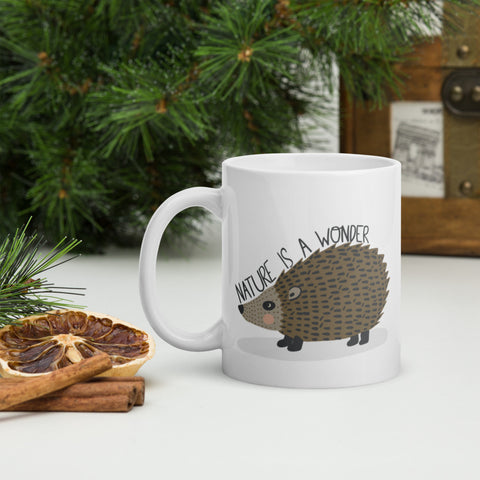 Nature is a Wonder Hedgehog Mug - Edith May Designs