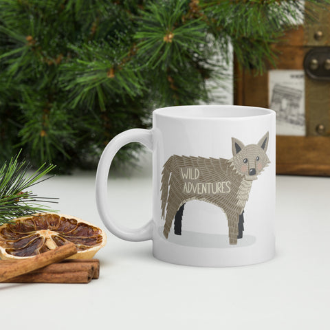 Wild Adventures Wolf Mug - Edith May Designs