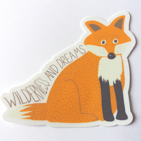 Wilderness and Dreams Fox Sticker - Edith May Designs
