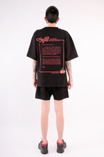 Load image into Gallery viewer, CHERRY DISCOTHEQUE - VIRUS OVERSIZE TEE IN BLACK