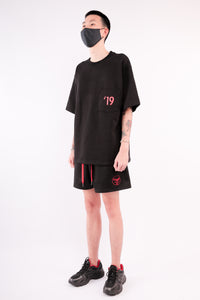 CHERRY DISCOTHEQUE - VIRUS OVERSIZE TEE IN BLACK