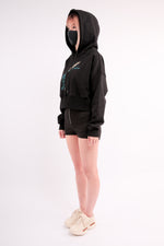 Load image into Gallery viewer, CHERRY DISCOTHEQUE - FLASHDANCE CROP HOODIE
