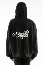 Load image into Gallery viewer, CHERRY DISCOTHEQUE - REFLECTIVE LOGO HOODIE IN ONYX BLACK