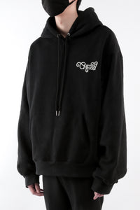 CHERRY DISCOTHEQUE - REFLECTIVE LOGO HOODIE IN ONYX BLACK